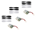 Picture of Hubsan X4 H107 Battery Propeller Blade COMBO 3x 240mAh Batteries 3x PropellerSet