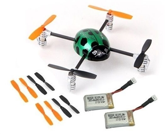 Picture of QR Ladybird V2 BNF Extra 2 x Battery 2 x Propellers Walkera