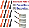 Picture of Hubsan X4 Battery Propeller 3.7v 240mAh 25c LiPo 3X RC Combo
