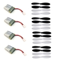 Picture of Hubsan X4 H107 Battery Propeller Blades COMBO 3.7v 240mAh 4x Parts