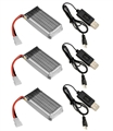 Picture of Hubsan X4 H107 3.7v 380mAh 25c Li-Po Battery & Charger 3x3 Combo H107D Batteries