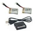 Picture of Traxxas QR-1 Quad-Rotor Helicopter TWO 3.7V LiPo BATTERY DUAL CHARGER USB 240mAh