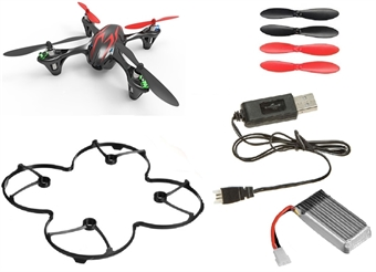 Picture of Hubsan X4 H107C Camera Quadcopter BNF with Extras (black with red stripes)