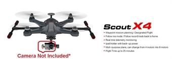 Picture of Walkera Scout X4 GPS FPV GoPro Quadcopter Drone w/ Devo F12E Radio - NO Camera