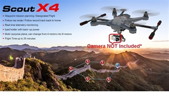 Picture of Walkera Scout X4 BNF GPS Quadcopter Drone w/ Ground Station but NO Radio, Camera, or Gimbal