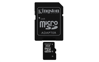 Picture of 8GB Micro SD Memory Card Flash TF Storage Card with Adapter