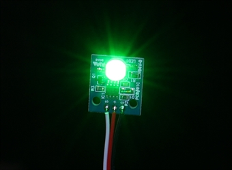 Picture of Green LED PCB Strobe Ball Light (12V) for RC Aircraft