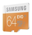 Picture of Samsung Evo 64GB Micro SD Memory Card Ultra Class 10 SDXC up to 48MB/s with Adapter