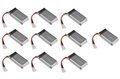 Picture of 10 x Quantity of Yi Zhan X4 Battery 3.7v 380mAh 25c Li-Po RC Part