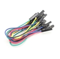 Picture of Female to Female Single Wire Jumper lead 25AWG 125mm (10pcs)