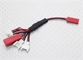 Picture of Blue Mini Drone Multi-Plug Charge Lead for Micro Model Batteries
