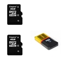 Picture of Motorola V635 Portable Storage 4GB Micro SD Card Chips with USB Card Reader Combo