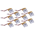 Picture of 10 x Quantity of Cheerson CX10 4CH 2.4G RC Nano Quadcopter Li-Po Battery Power Pack 3.7v 100mAh
