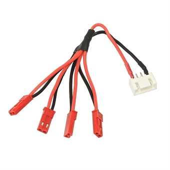 Picture of 3S Li-Po Balance Plug JST-XH to 4x JST LED Power Distribution Lead Wire Male