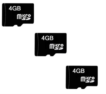 "Picture of 3 x Quantity of HP Slate 8"" Micro SD Card 4GB Camera or Phone Flash Storage Memory Card"