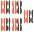 Picture of X-Drone Nano H107R Black Orange Propeller Blades Props 5x Propellers