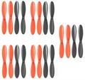 Picture of Blue Mini Drone Black Orange Propeller Blades Props 5x Propellers