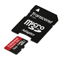 Picture of Sharp AQUOS Crystal Transcend 16GB MicroSDHC Class10 UHS-1 Memory Card with Adapter 45 MB/s  TS64GUSDU1E
