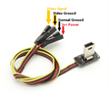 Picture of GoPro Hero 4 Black FPV Transmitter Video Output AV USB Cable Wire & Power Lead