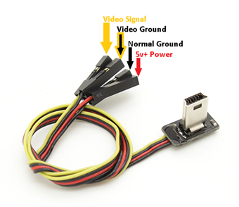 Picture of Slim GoPro Hero 4 or 3+ A/V Cable & Power Lead for FPV