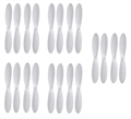 Picture of Hubsan X4 Plus H107P  White on White Propeller Blades Props 5x Propellers
