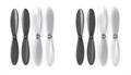 Picture of 2 x Quantity of Estes Dart Black Clear Propeller Blades Props Propellers Transparent