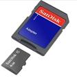 Picture of Motorola SLVR L7 4GB MicroSDHC Memory Card with SD Adapter 4GB MicroSDHC Class 4